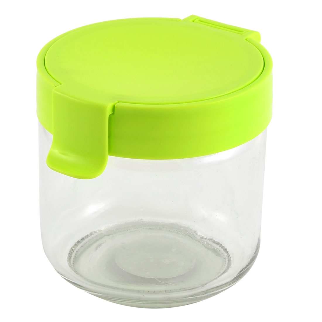Household Glass Cylinder Melon Seeds Tea Candy Coffee Food Storage Container Box Green 730ML