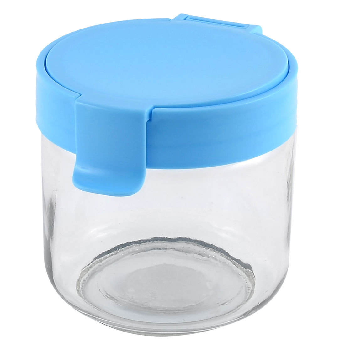 Household Glass Cylinder Melon Seeds Tea Candy Coffee Food Storage Container Box Blue 730ML