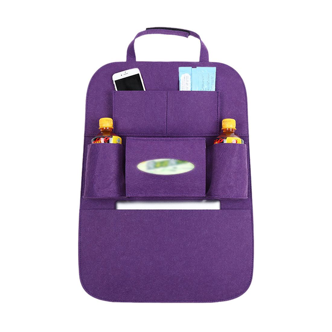 Purple Multi-Pocket Storage Bag Car Vehicle Seat Back Hanger Holder Organizer