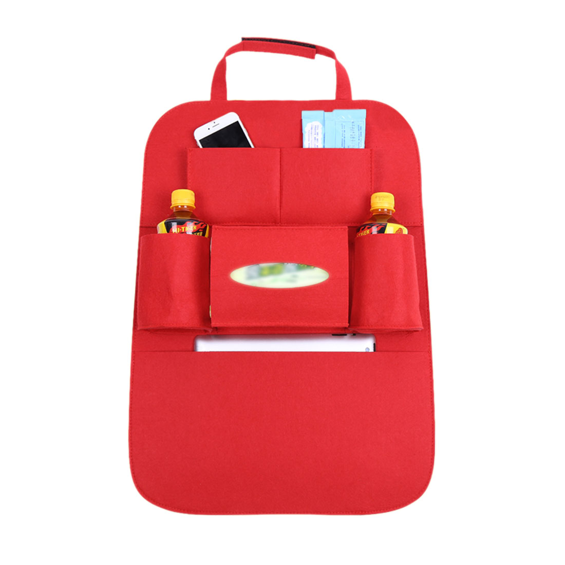 Red Multi-Pocket Storage Bag Car Auto Vehicle Seat Back Hanger Holder Organizer