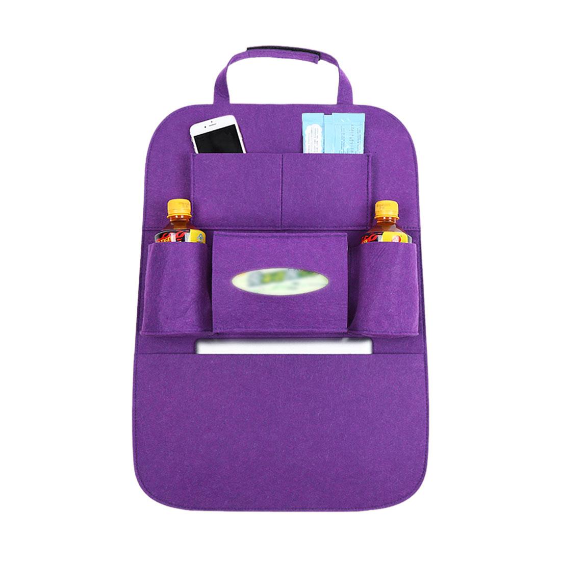 Purple Car Seat Back Multi-Pocket Storage Bag Organizer Holder Travel Hanger