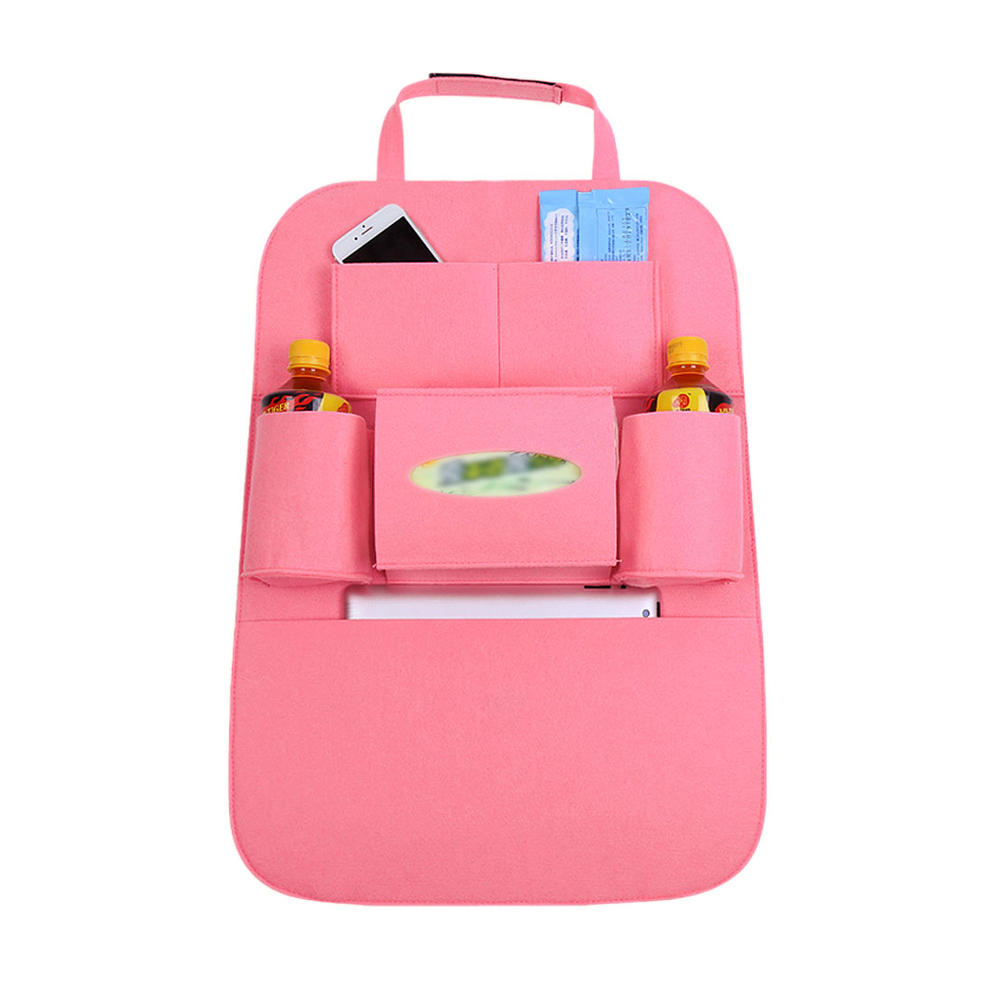 Pink Car Auto Seat Back Multi-Pocket Storage Bag Organizer Holder Travel Hanger