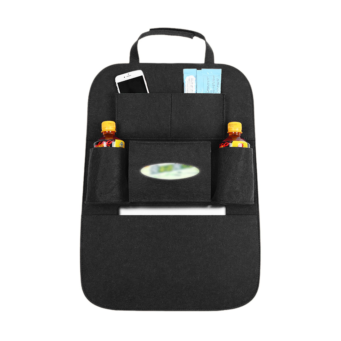 Black Car Auto Seat Back Multi-Pocket Storage Bag Organizer Holder Travel Hanger