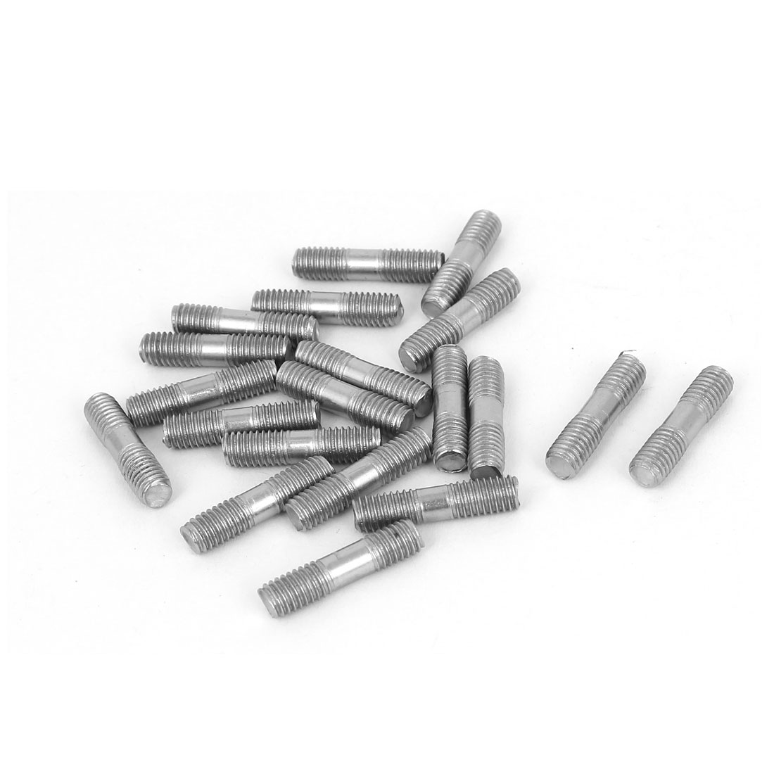 M5x20mm 304 Stainless Steel Double End Thread Tip Tight Adjustable Push Rod Stud 20pcs
