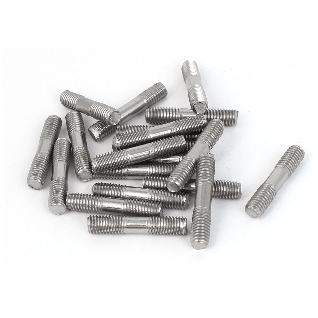 M5x25mm 304 Stainless Steel Double End Thread Tight Adjustable Push Rod Stud 20pcs