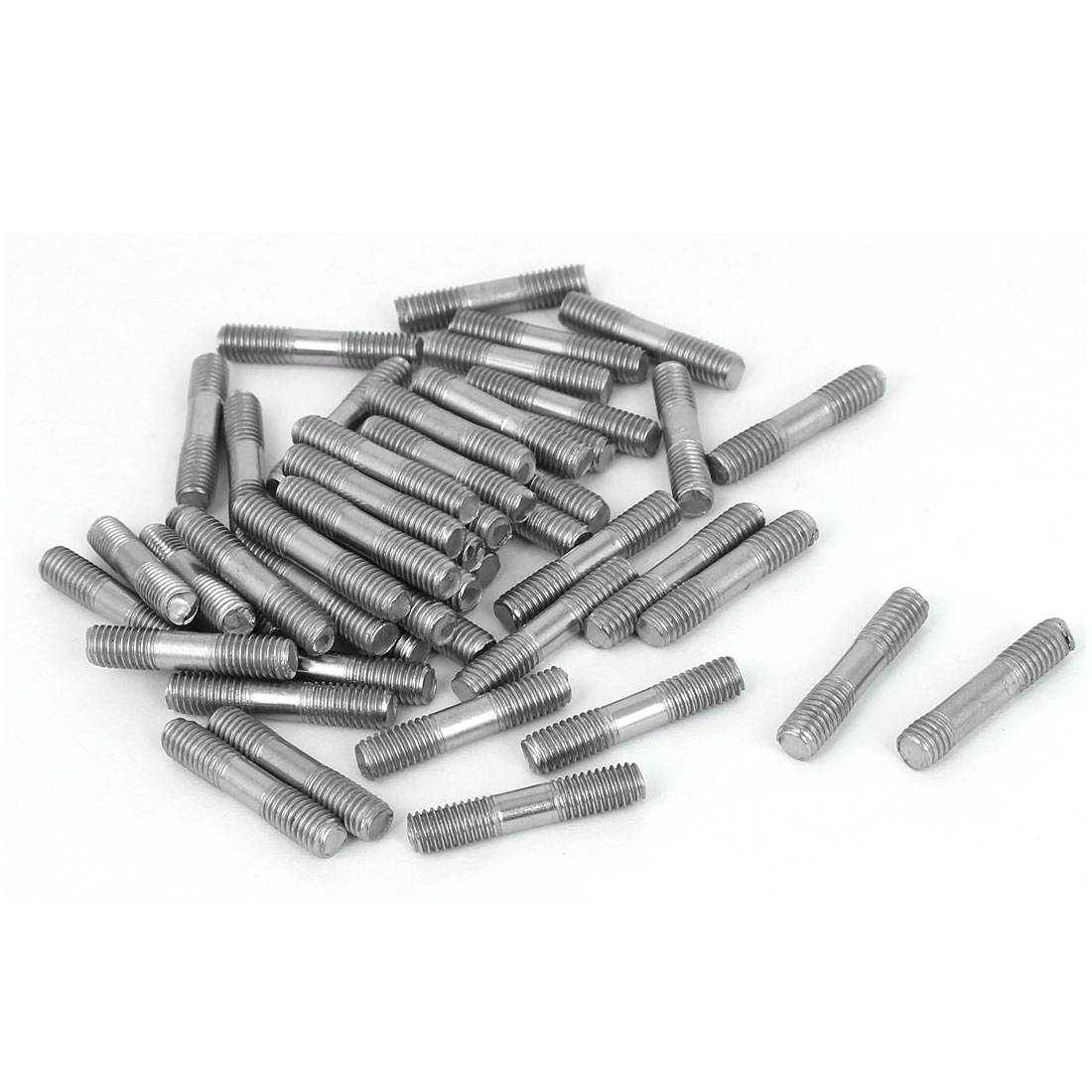 M5x25mm 304 Stainless Steel Double End Thread Tight Adjustable Push Rod Stud 50pcs