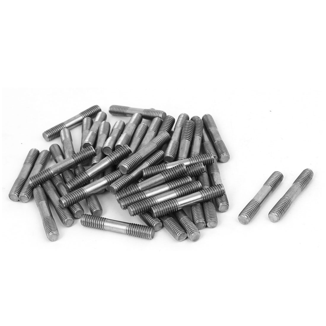 M6x35mm 304 Stainless Steel Double End Threaded Stud Screw Bolt 50pcs