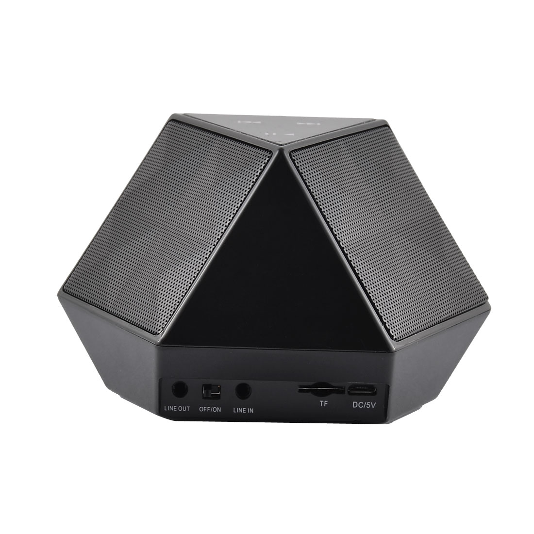 NFC Touch Control Connected Super Bass bluetooth Speakers Black w Diaphragm
