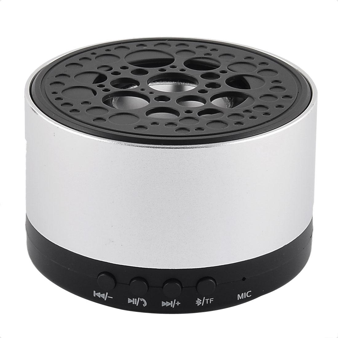 Portable Rechargeable Wireless Water Resistant Dustproof bluetooth Speaker Silver Tone