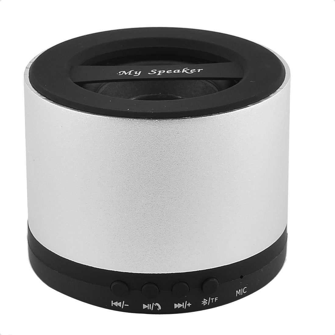 Portable Rechargeable Wireless Streaming Audio bluetooth Speaker Silver Tone