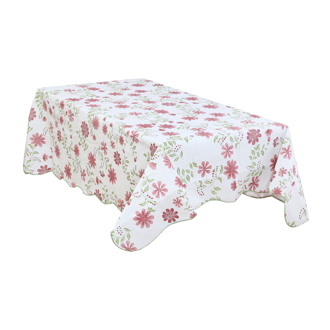 """Home Nine-petals Plastic Printed Oil Resistant Tablecloth Square Red 60""""x60"""""""