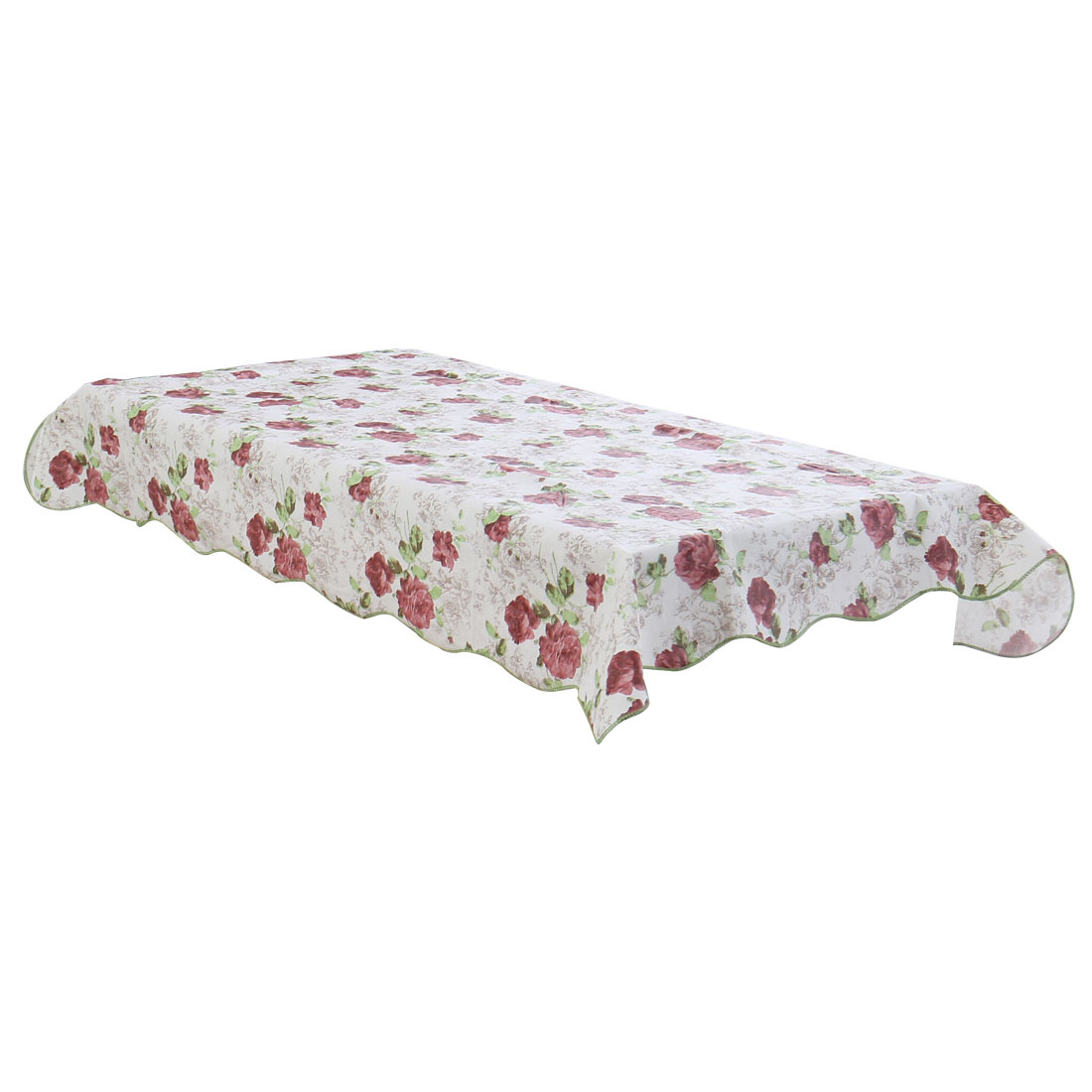 Home Picnic Daisy Pattern Water Resistant Oil-proof Tablecloth Table Cloth Cover 71 x 54 Inch