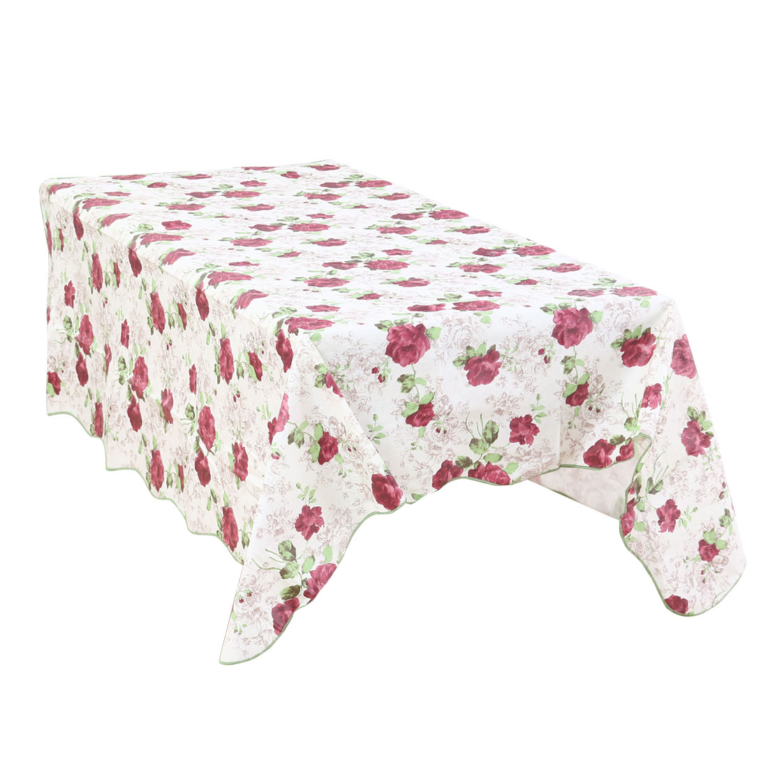 """Plastic Peony Pattern Square Tablecloth Water/Oil Stain Resistant 60"""" x 60"""""""