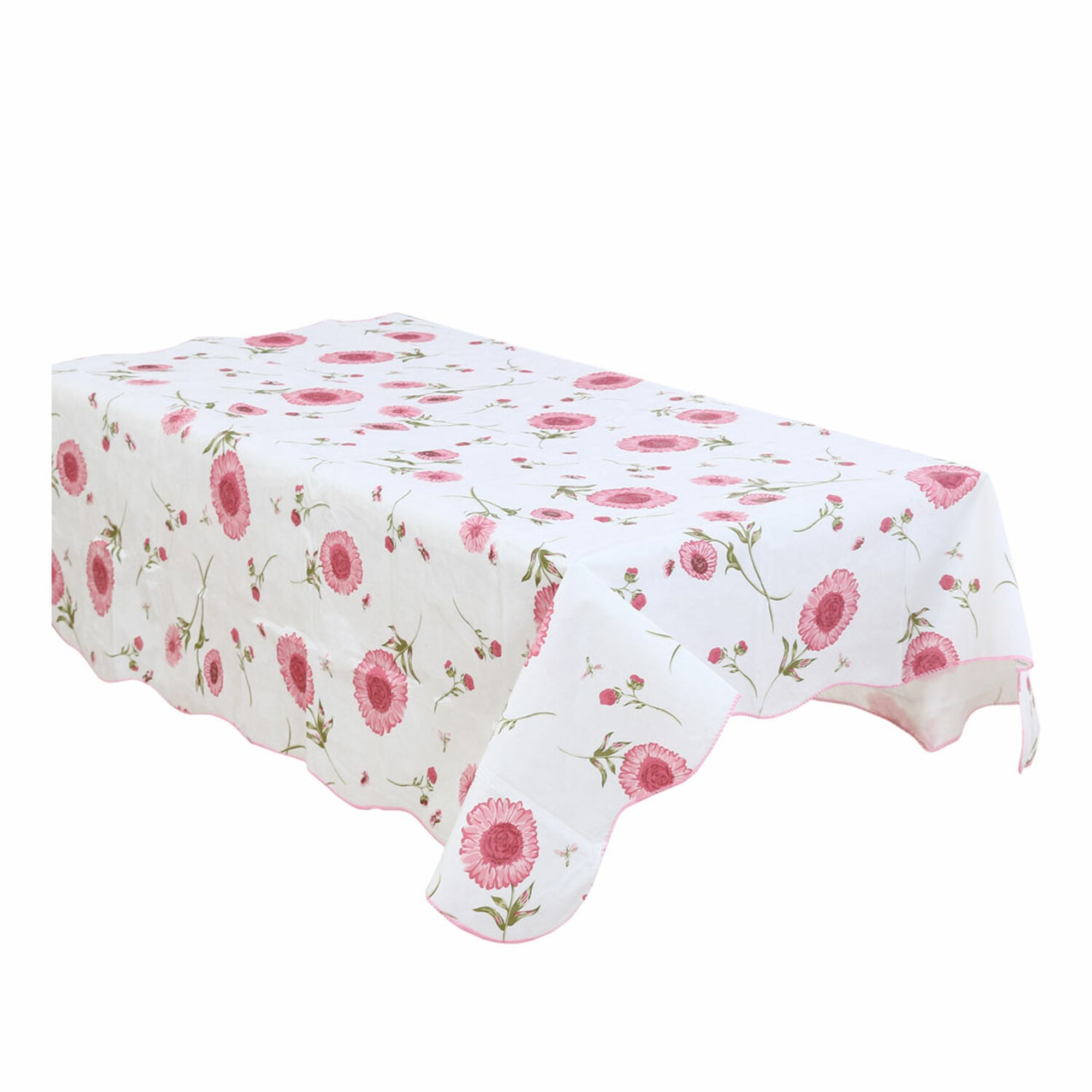 Home Picnic Sunflower Pattern Water Resistant Oil-proof Tablecloth Table Cloth Cover Pink 41 x 60 Inch