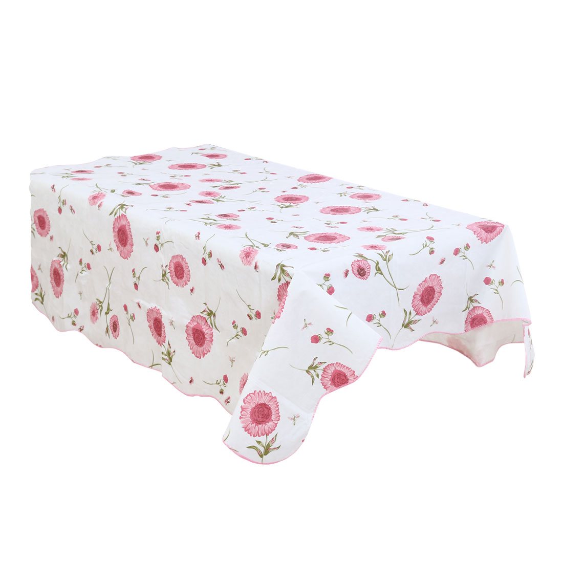 Home Picnic Sunflower Pattern Water Resistant Oil-proof Tablecloth Table Cloth Cover Pink 72 x 54 Inch
