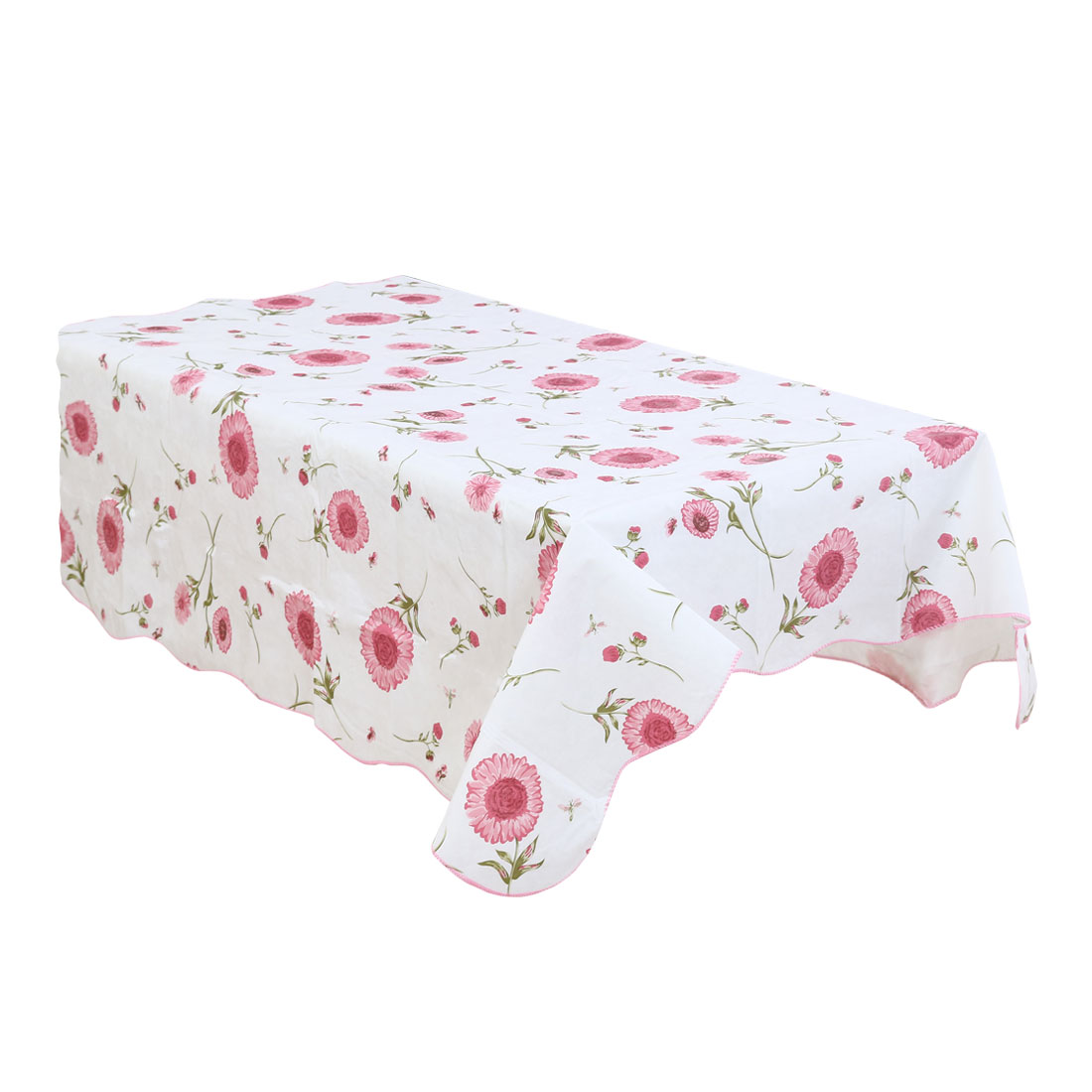 Home Picnics Sunflower Pattern Water Resistant Oil-proof Tablecloth Table Cloth Cover Pink 60 x 60 Inch