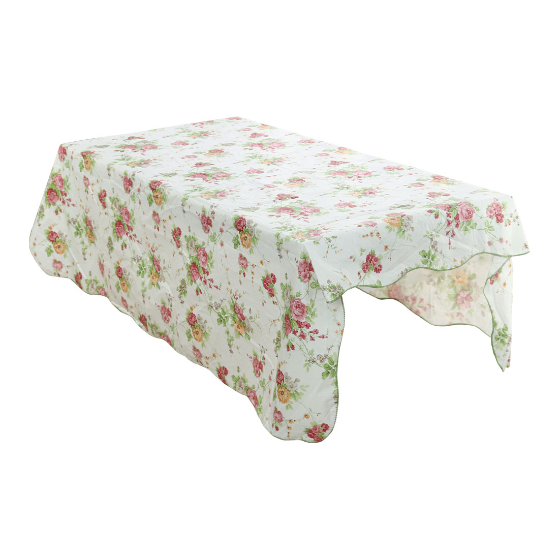 Home Picnic Rose Pattern Water Resistant Oil-proof Tablecloth Table Cloth Cover Pink 72 x 54 Inch
