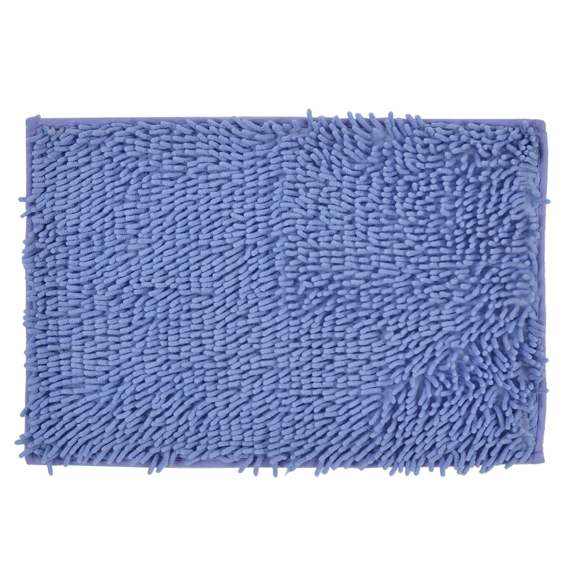 60cm x 40cm Light Blue Polyester Absorbent Slip-resistant Pad Bath Mat Shower Rug