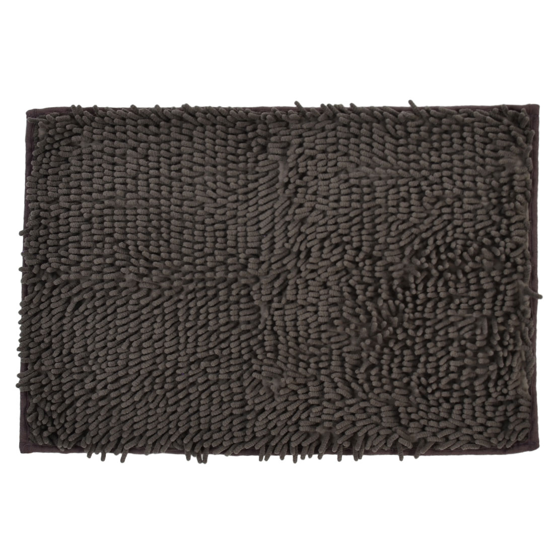 60cm x 40cm Gray Polyester Absorbent Slip-resistant Pad Bath Mat Shower Rug