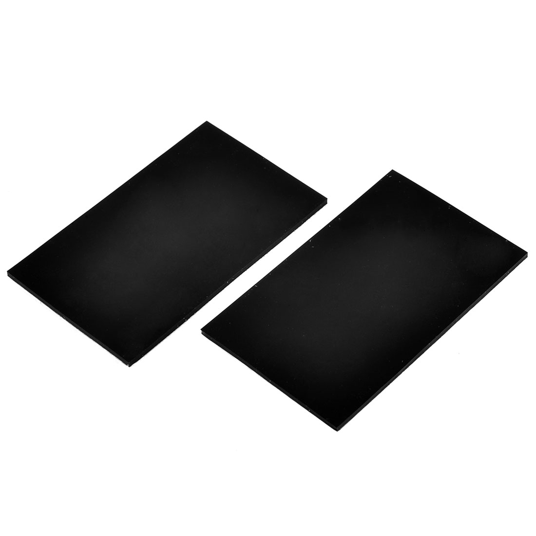 Silicone Square Design Furniture Nonslip Protector Pad Mat Black 2 Pcs