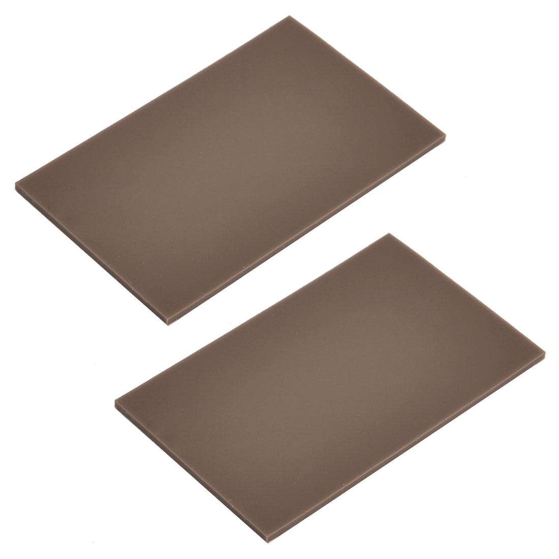 Silicone Rectangle Design Furniture Nonslip Protector Pad Wood Color 2 Pcs