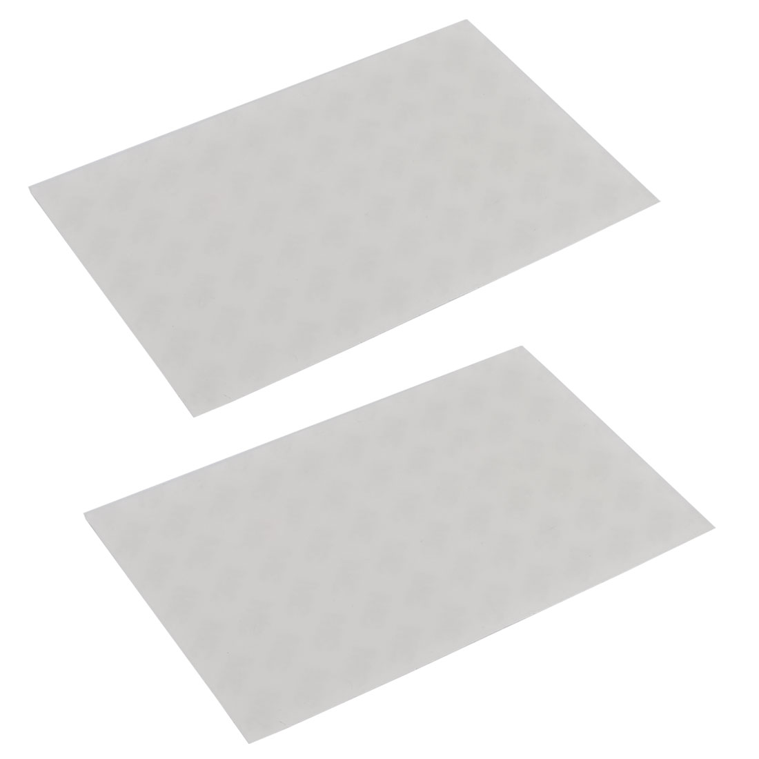 Silicone Self-adhesive Furniture Nonslip Protector Pad Clear White 2 Pcs