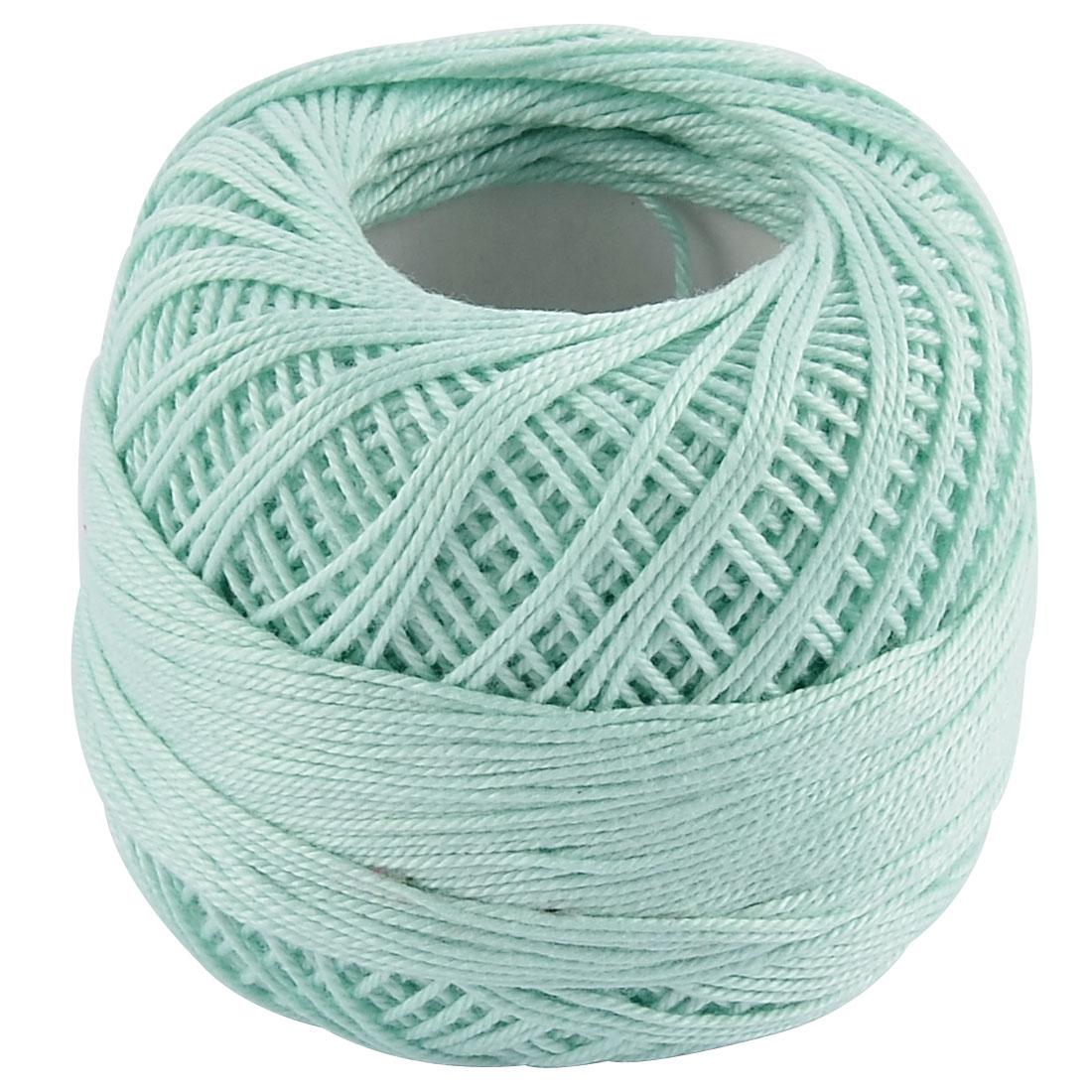 Cotton Tatting Crochet Hand Knitting Glove Shawl Muffler Yarn Thread Light Green