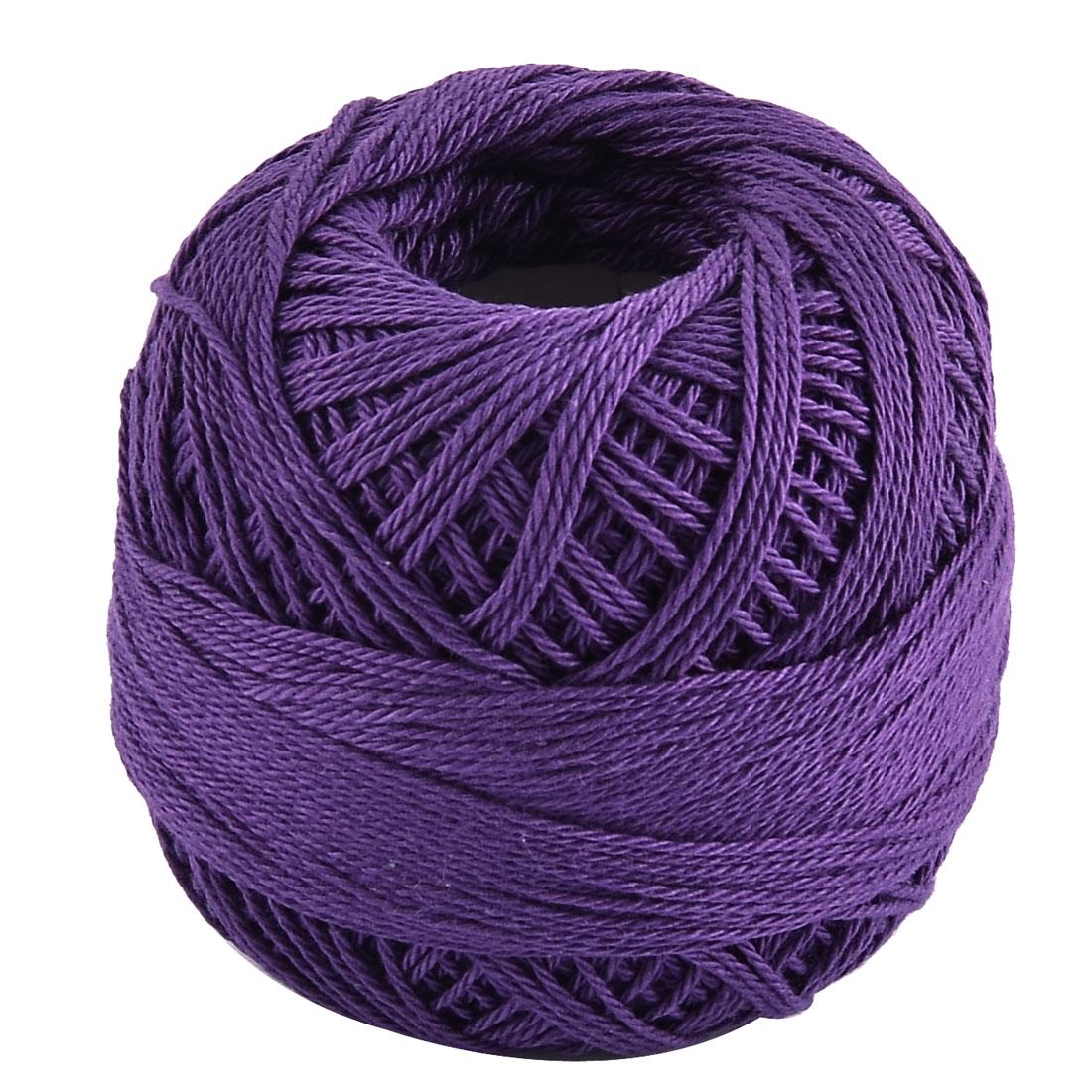 Cotton DIY Craft Hand Knitting Weaving Glove Shawl Sweater Yarn Thread Purple