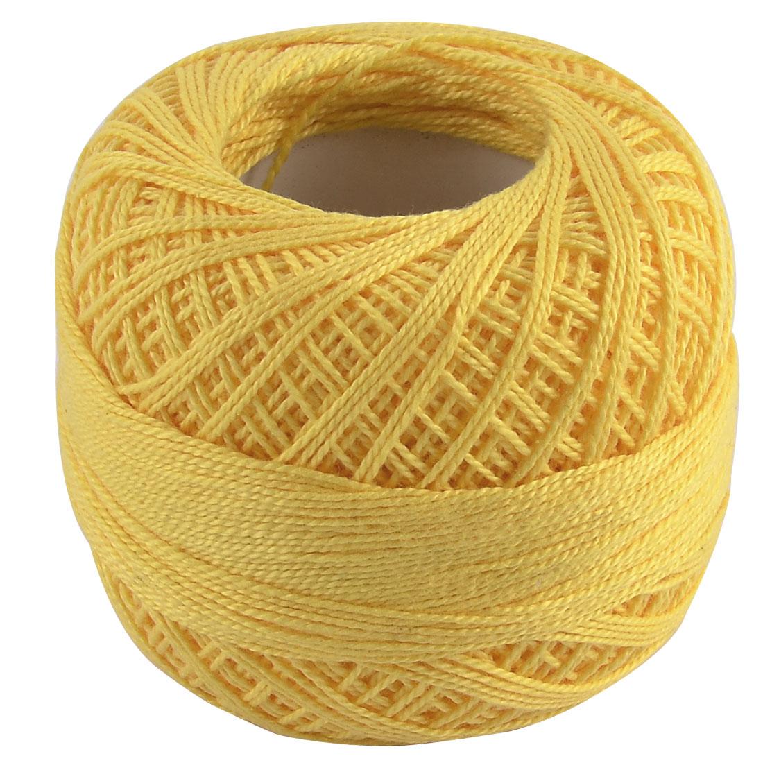 Cotton Handcraft Hand Knitting Crochet DIY Sock Coaster Shawl Yarn Yellow