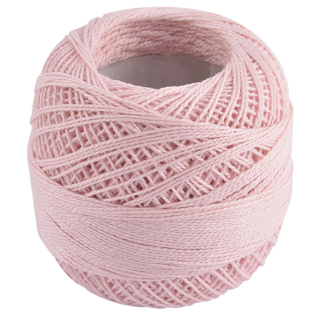Cotton DIY Scarf Sweater Sock Crochet Handmade Hand Knitting Yarn Light Pink
