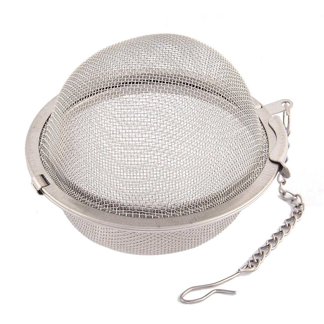 Household 304 Stainless Steel Locking Chain Mesh Tea Ball Strainer Infuser 2.2'' Dia