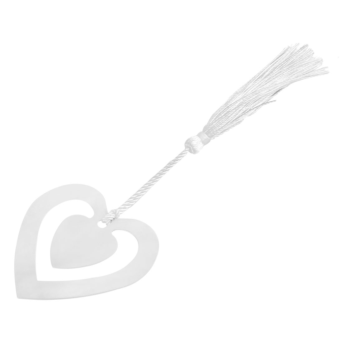 Household Office Metal Tassel Decor Heart Design Page Fashion Holder Bookmark