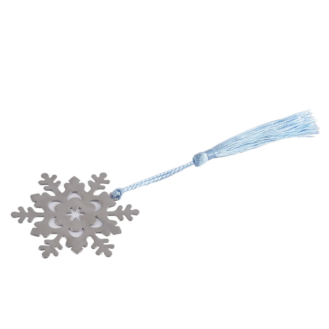 Household Office Metal Tassel Decor Snowflake Shaped Page Fashion Holder Bookmark