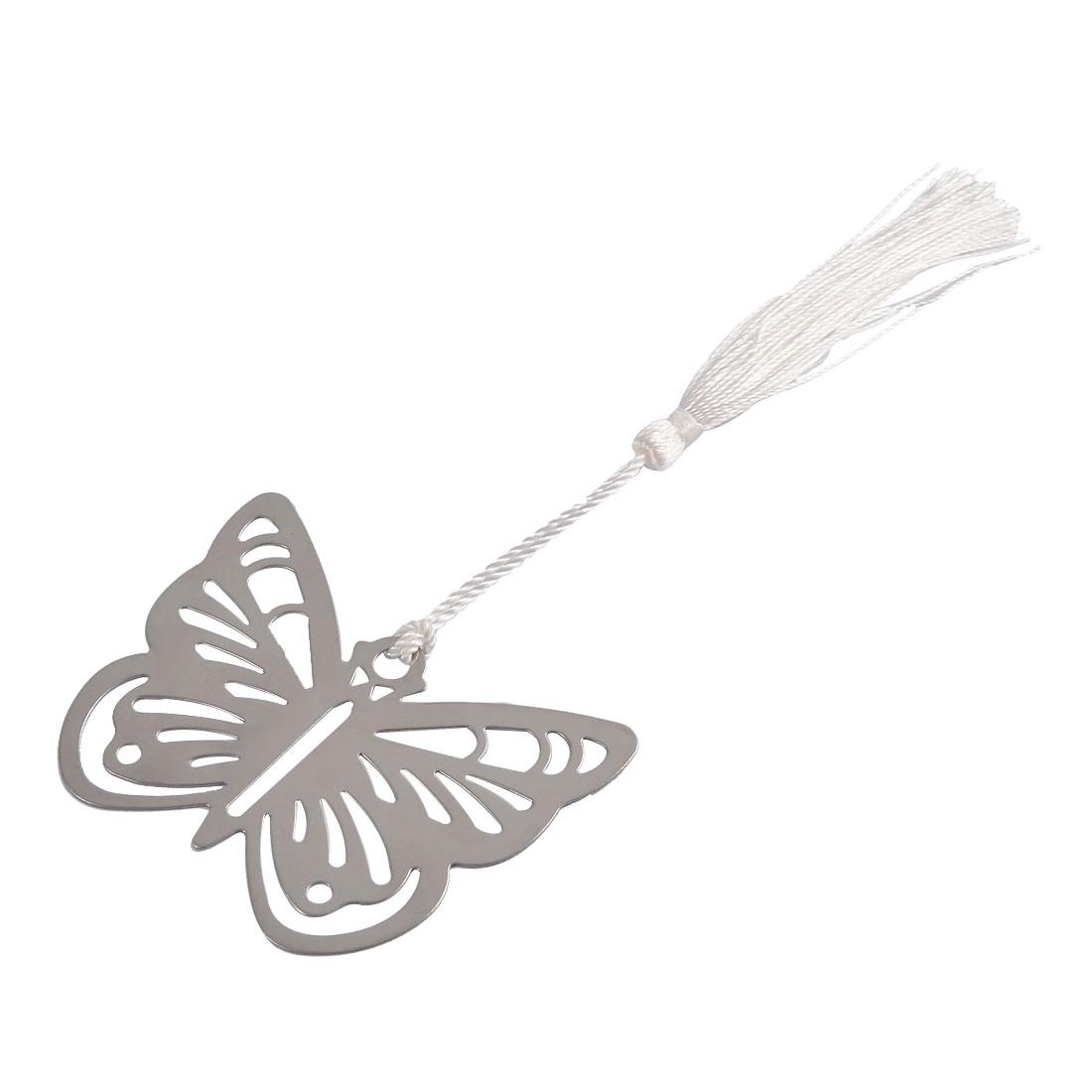 Household Office Metal Tassel Decor Butterfly Shaped Page Fashion Holder Bookmark
