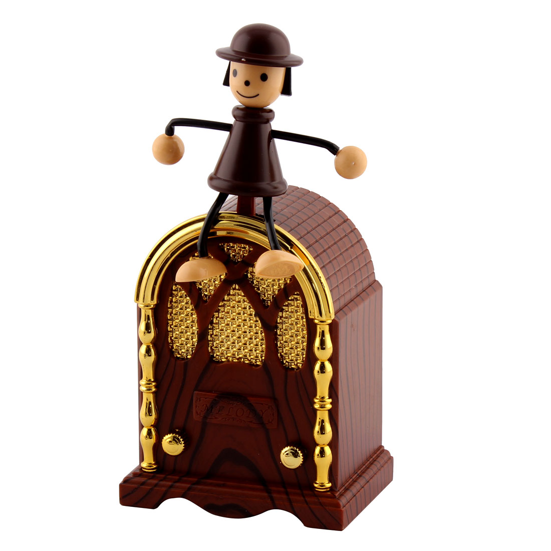 Bedroom Desktop Ornament Vintage Toy Character House Shaped Gramophone Music Box
