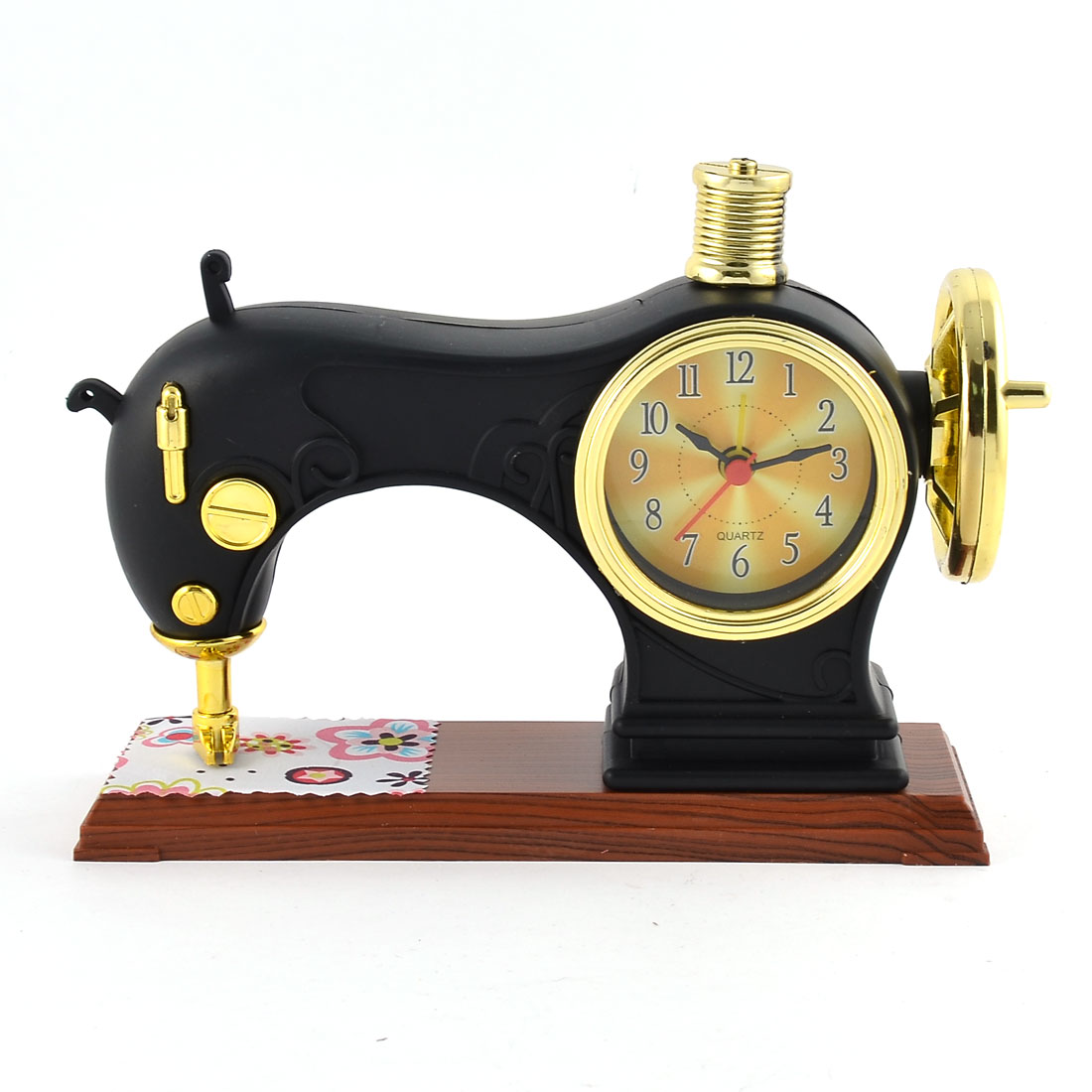 Home Bedroom Plastic Sewing Machine Shaped Fashion Unique Student Desk Alarm Clock
