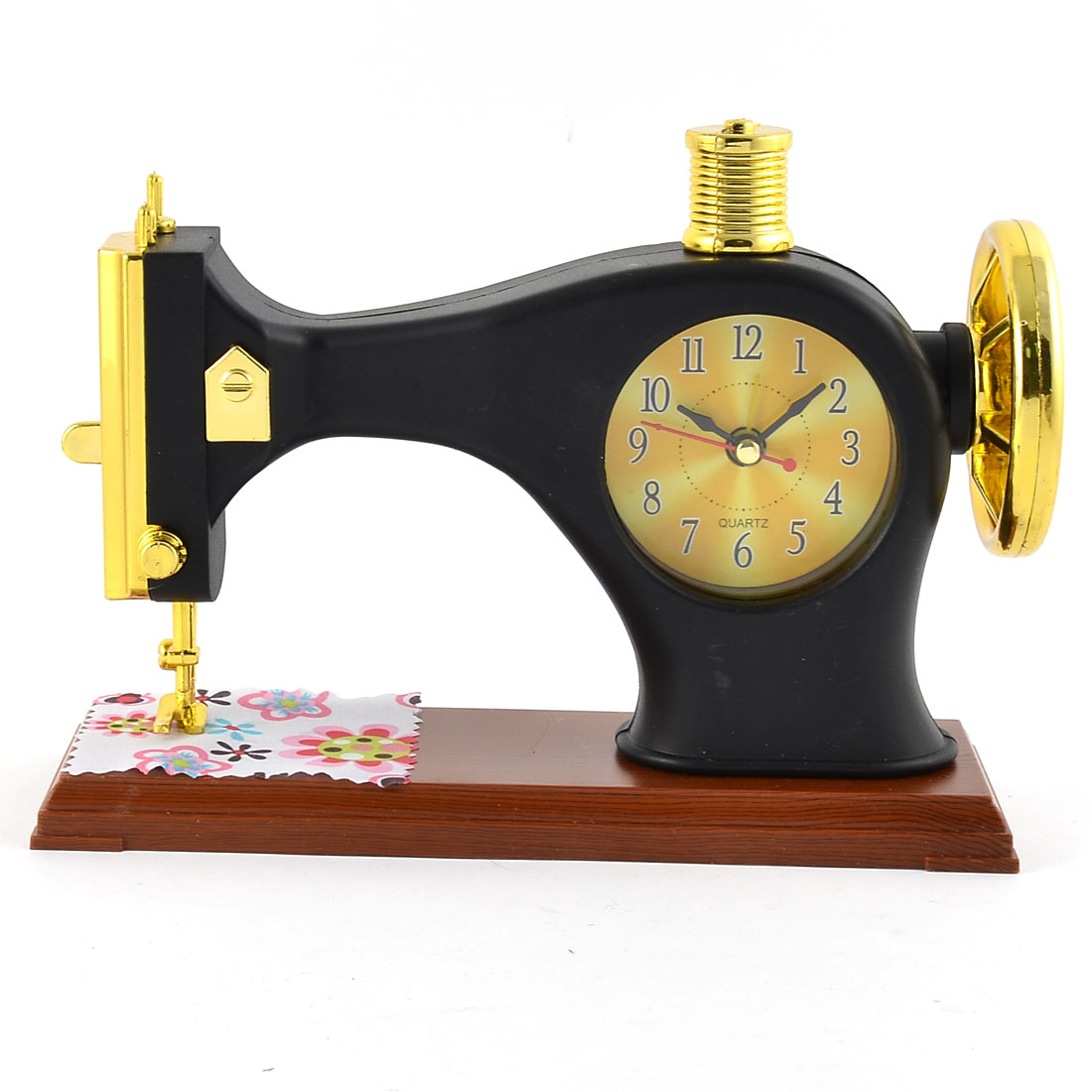 Home Office Plastic Sewing Machine Shaped Fashion Unique Student Desk Alarm Clock