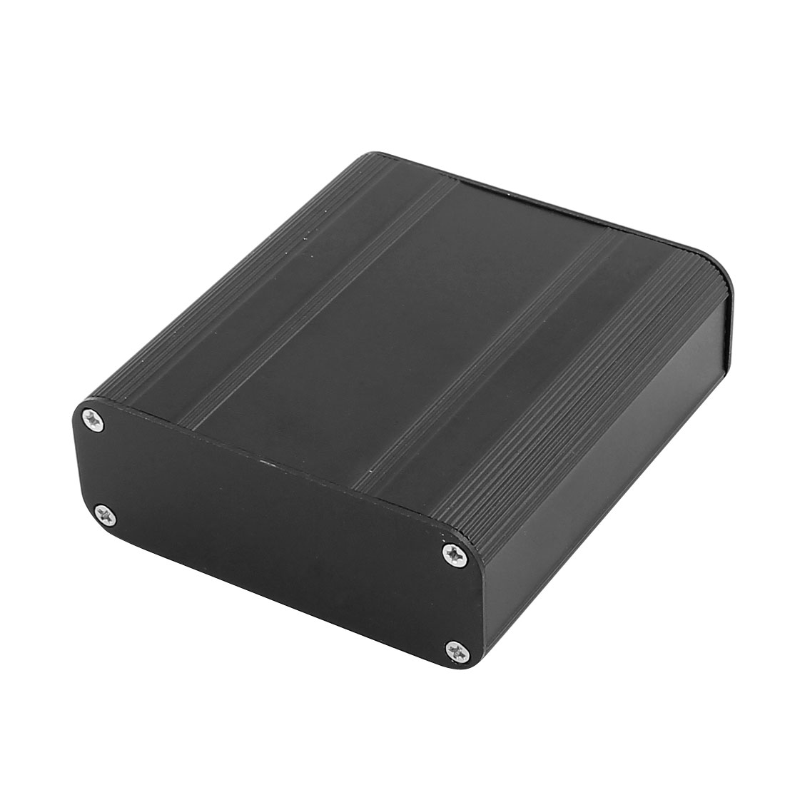 73 x 66 x 25mm Multi-purpose Extruded Aluminum Enclosure Electronic Box Black