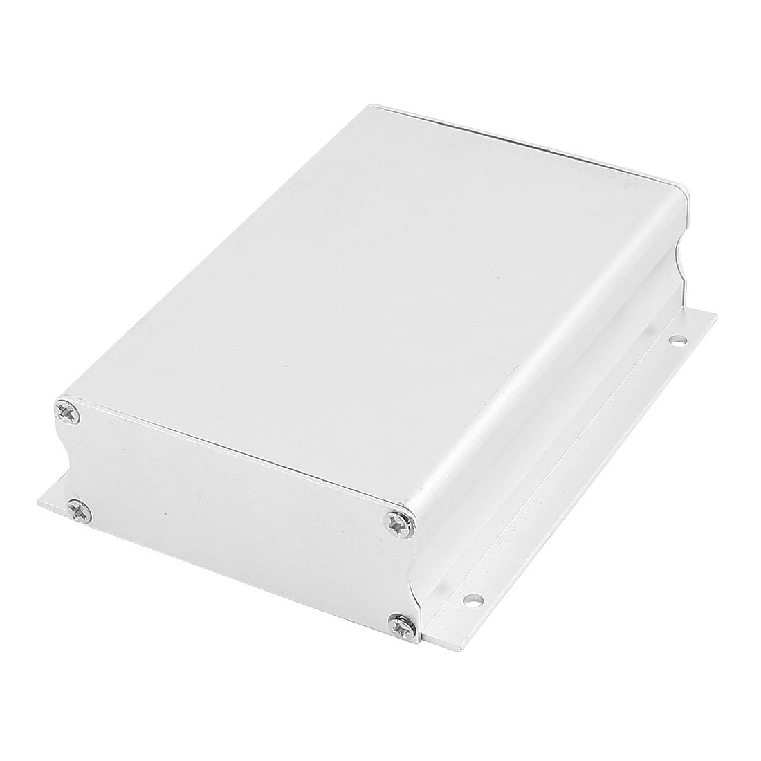 113 x 89 x 29mm Multi-purpose Extruded Aluminum Enclosure Box Silver Tone