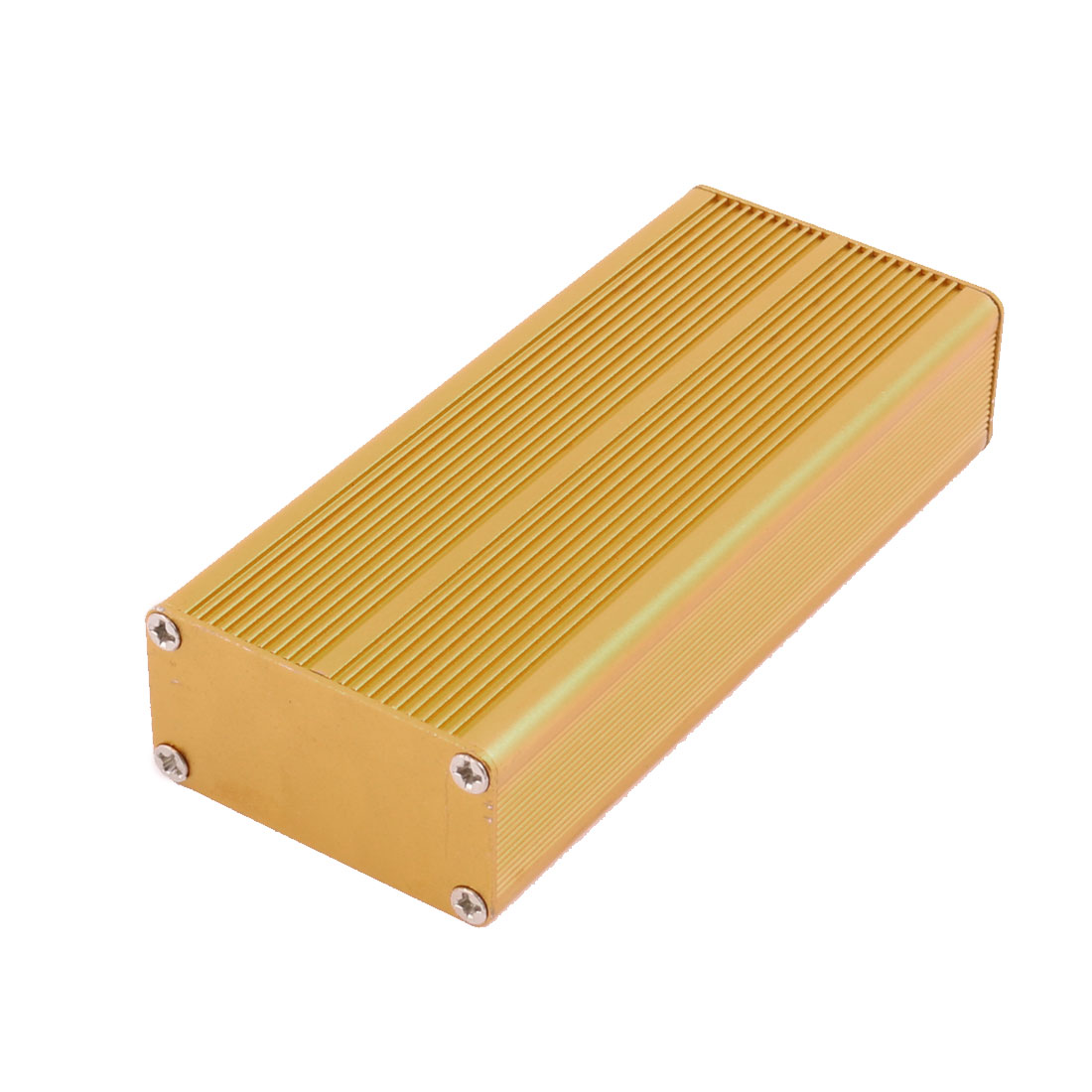 25 x 48 x 110mm Multi-purpose Electronic Extruded Aluminum Enclosure Gold Tone