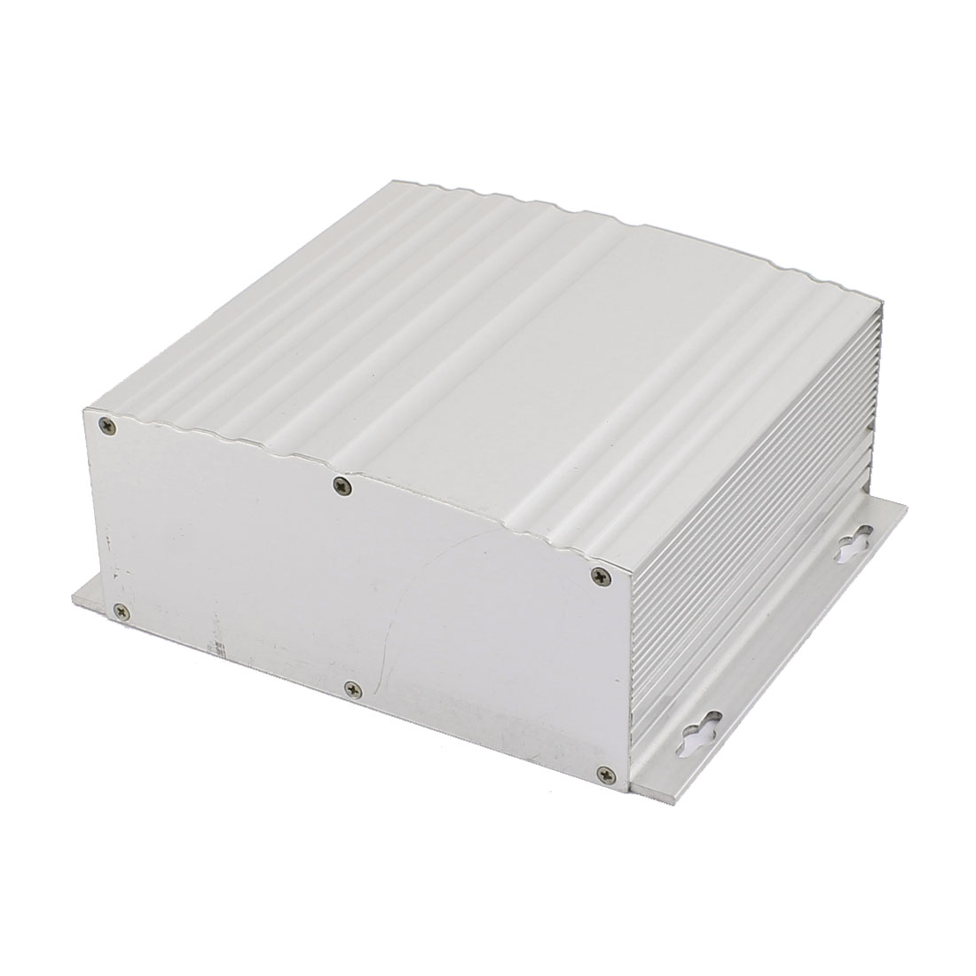 158 x 150 x 73mm Multi-purpose Electronic Extruded Aluminum Enclosure Silver Tone