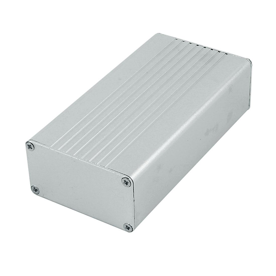 108 x 55 x 30mm Multi-purpose Extruded Aluminum Enclosure Box Silver Tone