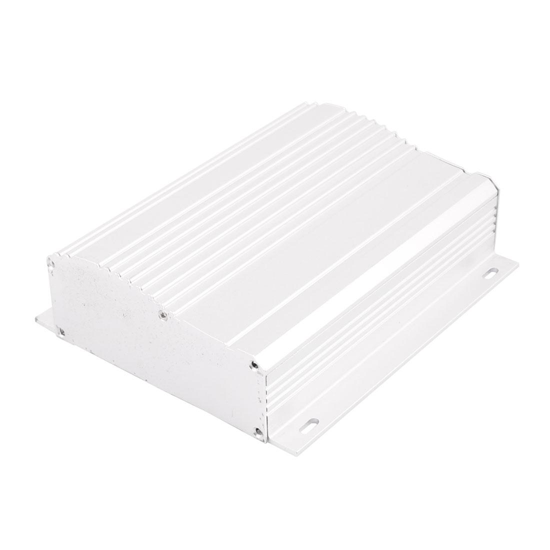 44 x 138 x 160mm Multi-purpose Electronic Extruded Aluminum Enclosure Case Silver Tone