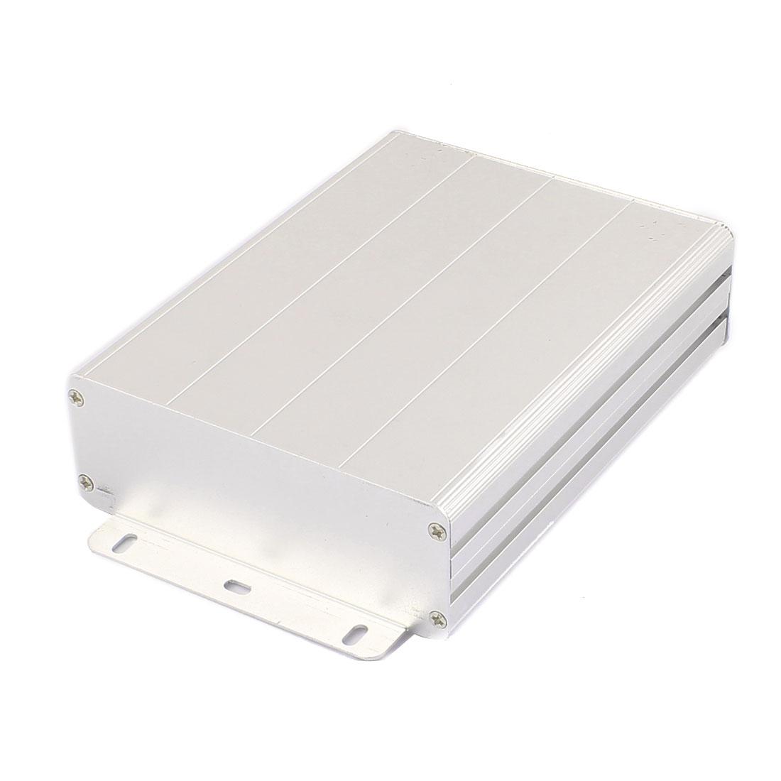163 x 122 x 45mm Multi-purpose Electronic Extruded Aluminum Enclosure Silver Tone