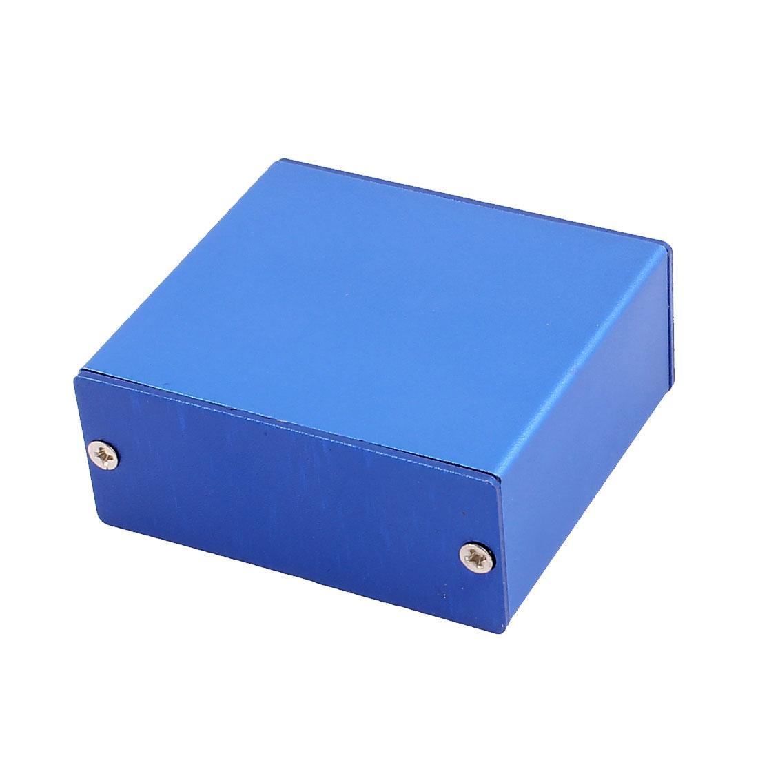 58 x 53 x 24mm Multi-purpose Extruded Aluminum Enclosure Electronic Box Blue