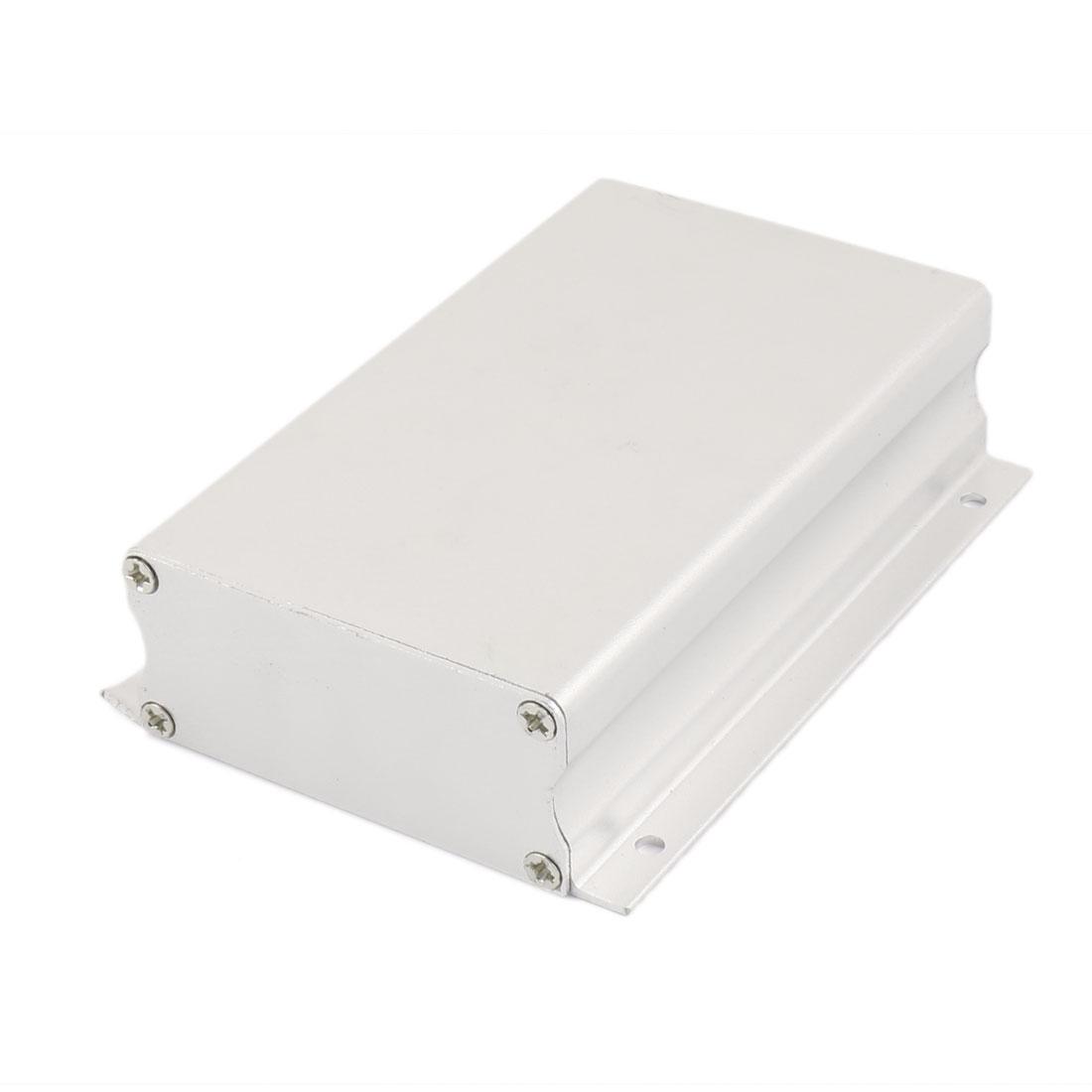 112 x 81 x 29mm Multi-purpose Electronic Extruded Aluminum Enclosure Silver Tone