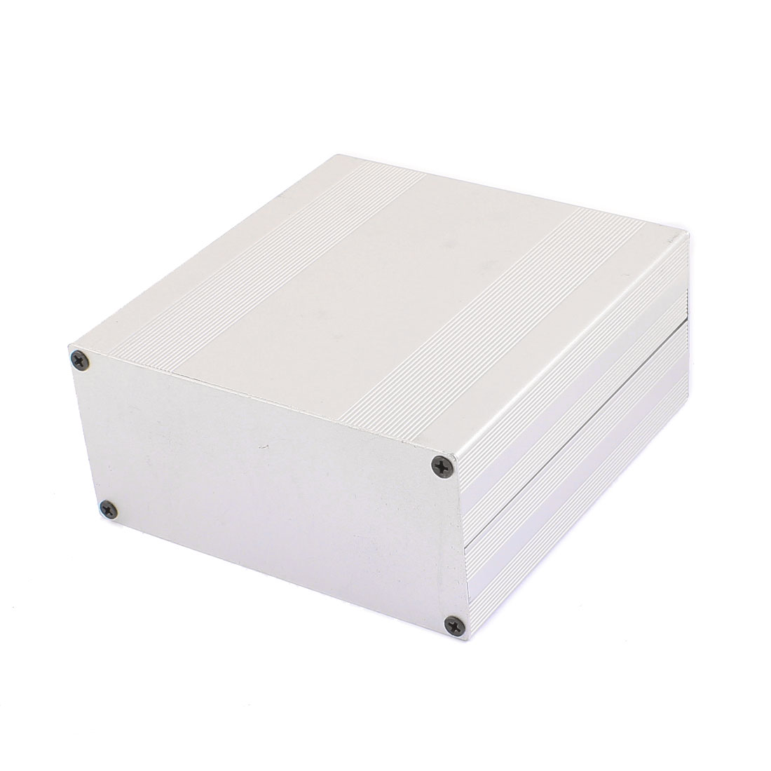 153 x 145 x 68mm Multi-purpose Electronic Extruded Aluminum Enclosure Silver Tone