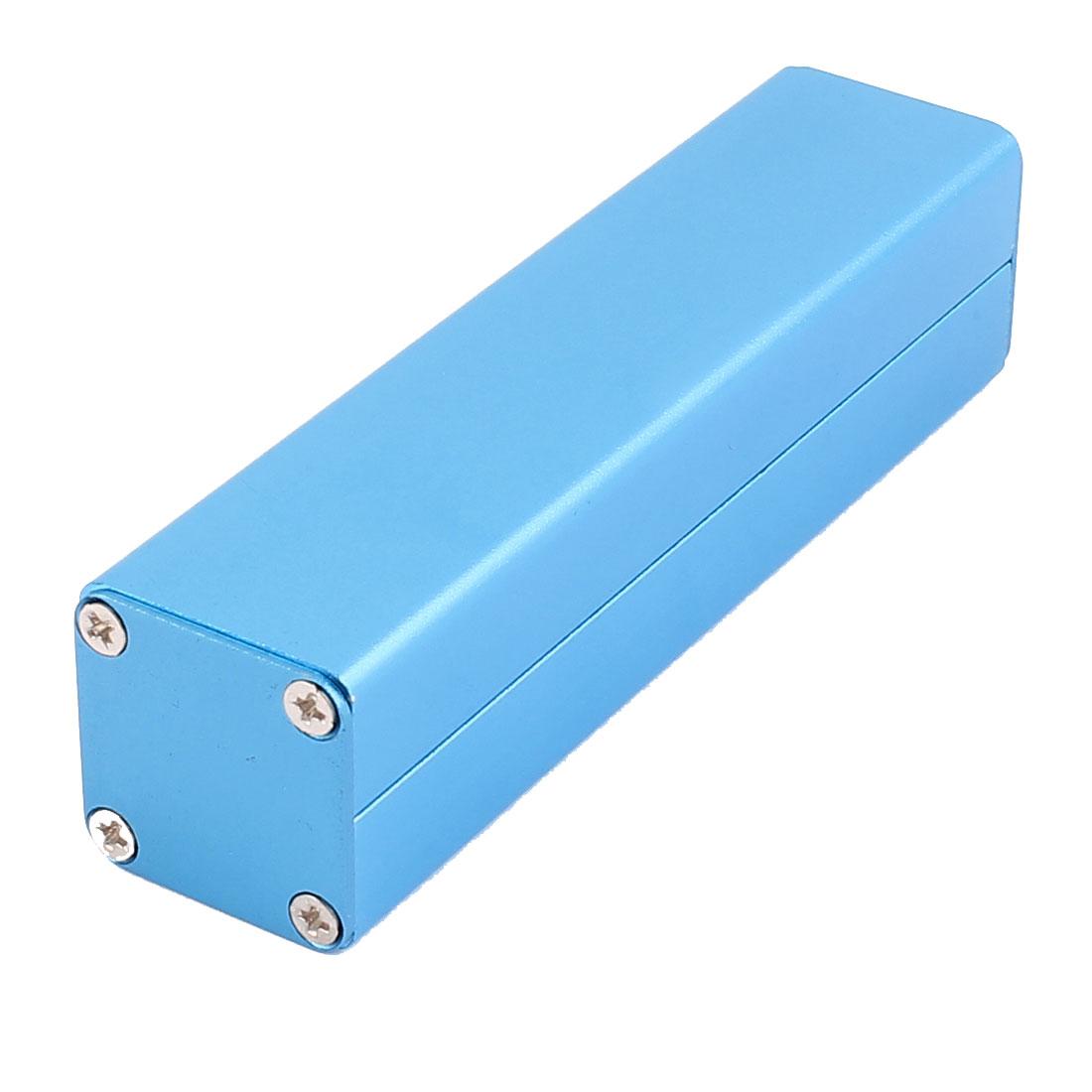 102 x 25 x 25mm Multi-purpose Electronic Extruded Aluminum Enclosure Case Blue
