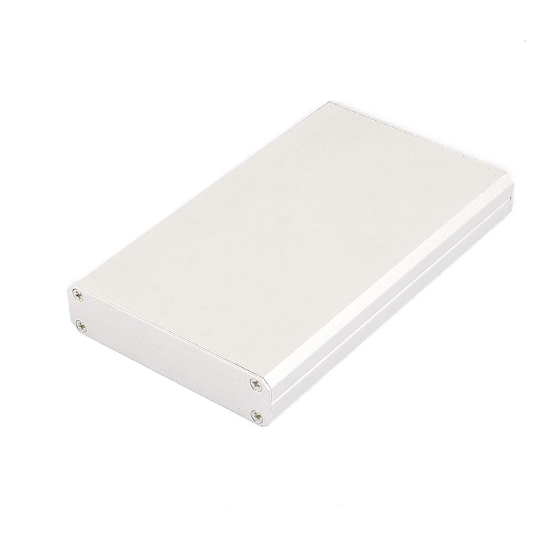 113 x 67 x 15mm Multi-purpose Electronic Extruded Aluminum Enclosure Silver Tone