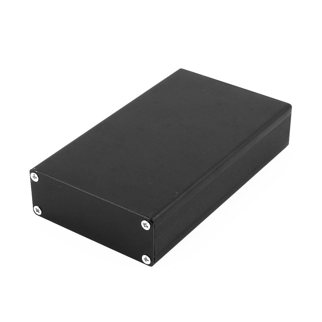 24 X 64 X 110mm Multi-purpose Electronic Extruded Aluminum Enclosure Case Black Tone